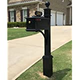 Williamsburg Estate Mailbox System (Estate Post - Black)