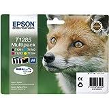 Epson T1285 - Pack de 4 cartuchos de inyección de tinta, tricolor y negro