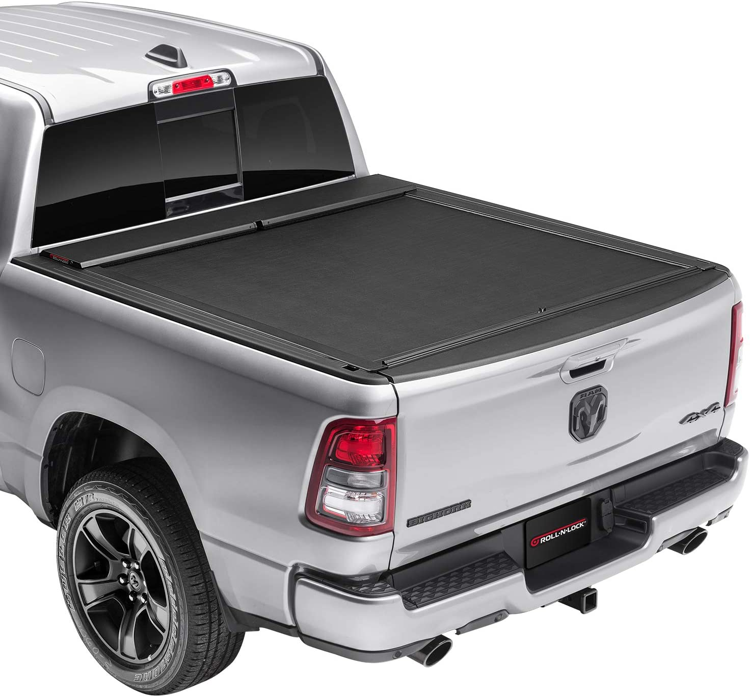 Amazon Com Roll N Lock M Series Retractable Truck Bed Tonneau Cover Lg449m Fits 2009 2018 19 20 Classic Dodge Ram 1500 3500 8 2 Bed 98 3 Automotive