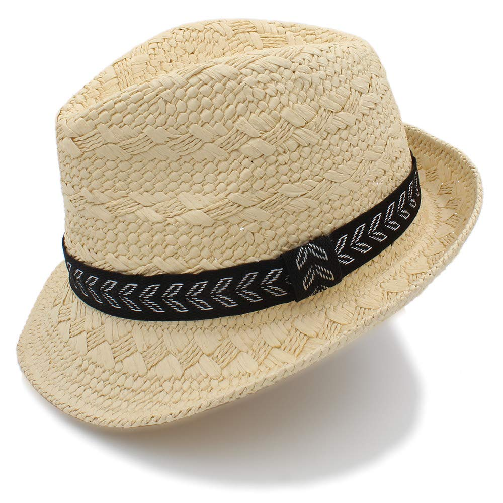 a24dca260c3d2 Amazon.com  XIANGBAO-Hat 2018 Fashion Summer Straw Men s Sun Hats Trilby  Gangster Cap Summer Beach Cap Panama Hat Sombrero Travel Sunhat (Color    Beige