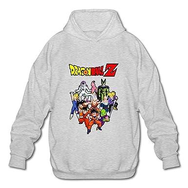 Los Hombres de Dragon Ball Z Logo Geek Sudaderas con Capucha Sudadera Blanco XXXX-L: Amazon.es: Ropa y accesorios