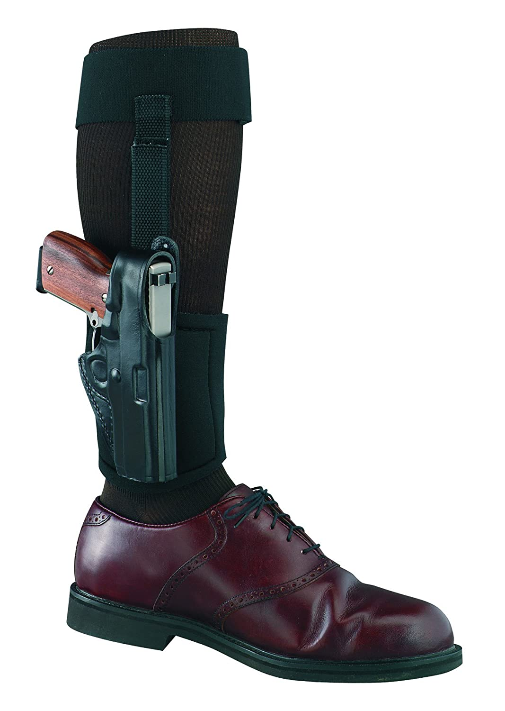 Gould & Goodrich GGB81638LH gold Line Ankle Holster Plus Garter, LeftHand, Fits SW Bodyguard 0.38 (Black)