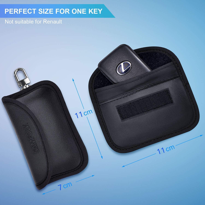 Samfolk Mini Rfid Keyless Schermatura Faraday Custodia Chiave Protezione Blocker Radioprotezione Keyless Auto 2 Pacchi