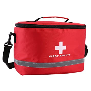 potato001 Cross Symbol Ripstop Nylon Outdoors Home Medical Emergency First Aid Kit Bag