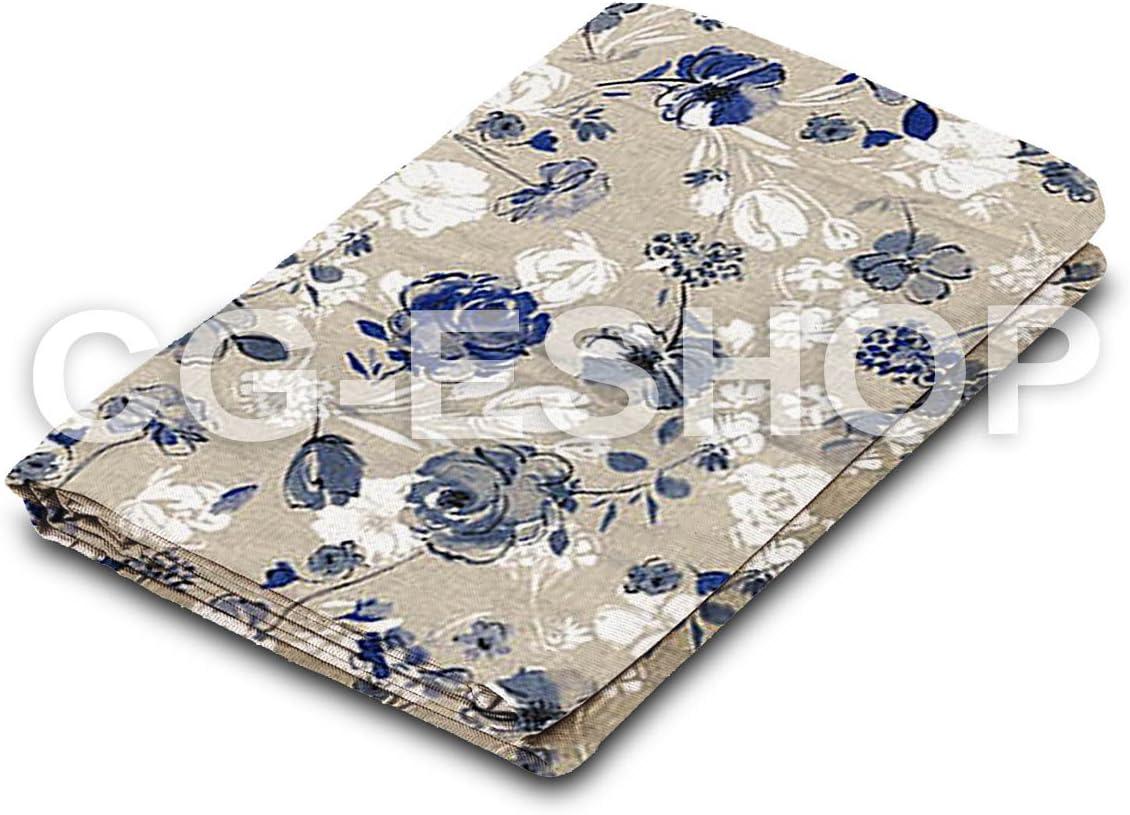 Confezioni Giuliana TOVAGLIA Cotone Gioia Rosa Fiori Blu 140x140//180//240//300//360 90x90 Runner 140x140