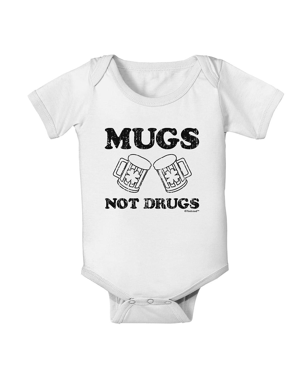 TooLoud Mugs Not Drugs Baby Romper Bodysuit