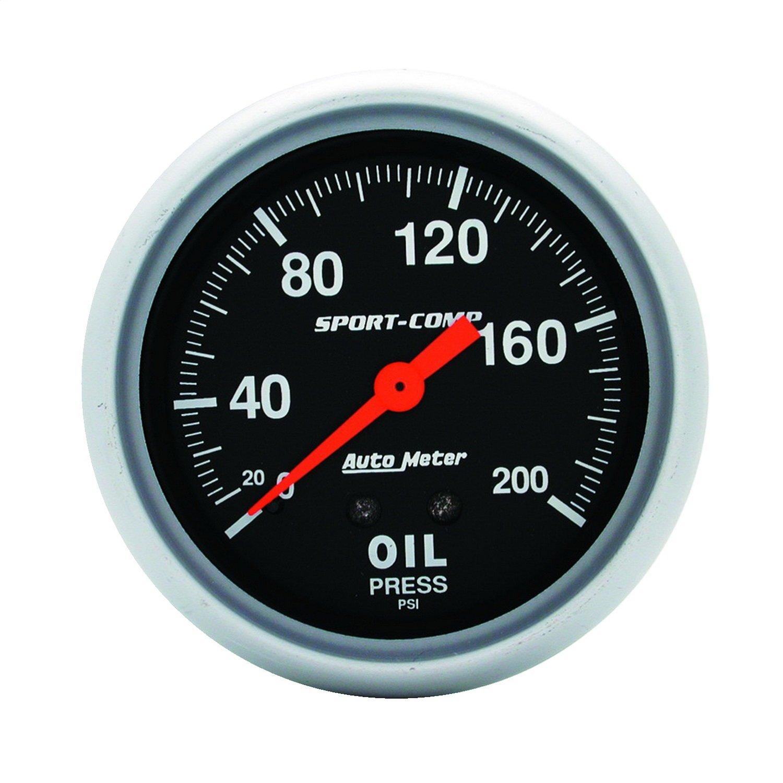 Auto Meter 3422 Sport-Comp Mechanical Oil Pressure Gauge by AUTO METER