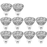 AGOTD Ampoules LED Spot GU4 Led, 35X38mm(1.38x1.50 inch),12V AC/DC 3W Blanc Froid Lampe, MR11 Eclairage, Petite Mini Spot Lumiere 3 Watt 250 Lumen, Culot GU4, 35W Ampoule Halogene equivalent ,6000 Kelvin, Lumiere Blanche,Lot de 10