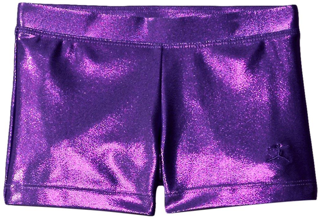 Danskin Little Girls' Gymnastics Basics Short, Purple, Small