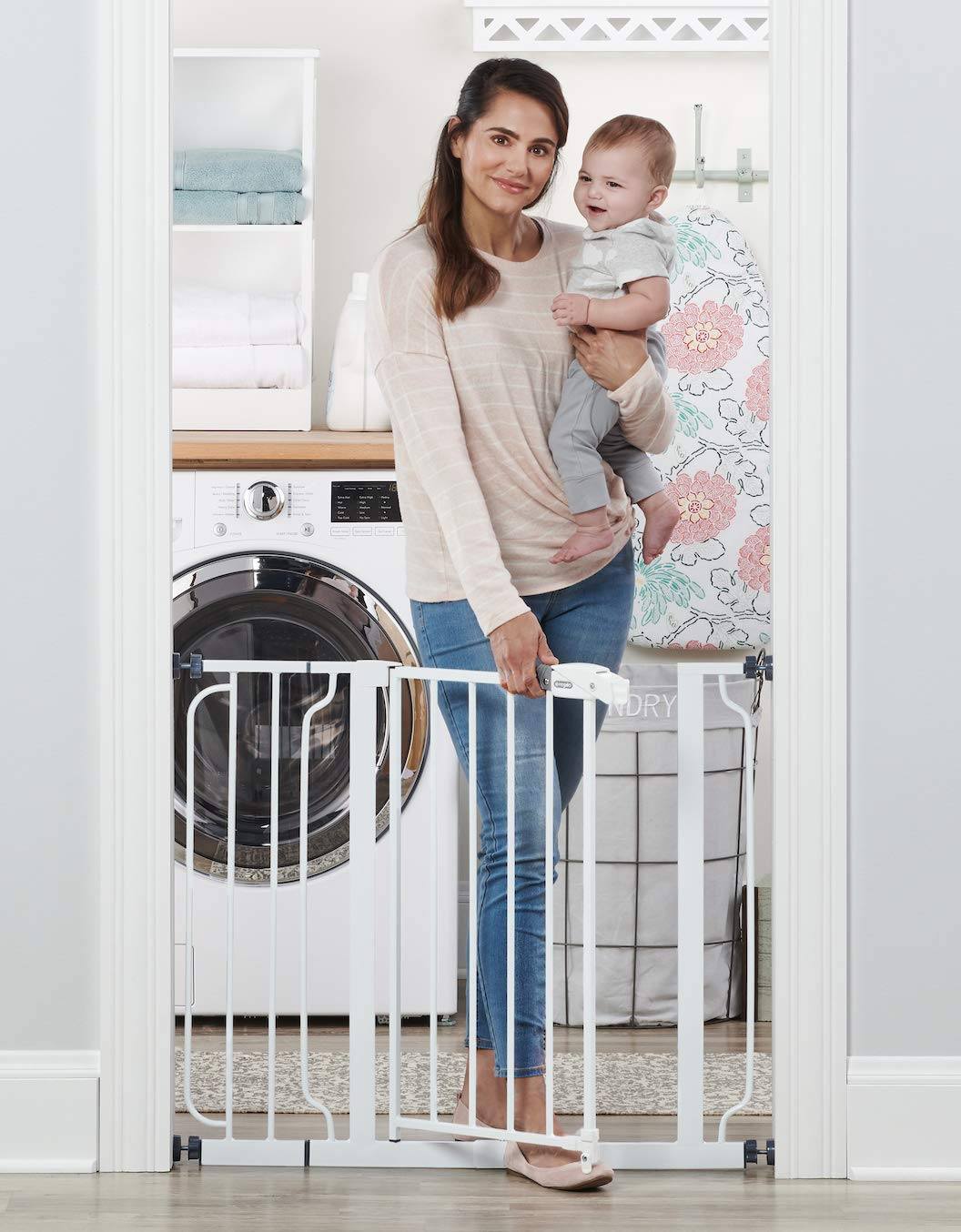 Regalo Easy Step Extra Tall Walk Thru Baby Gate Includes 4-Inch Extension Kit