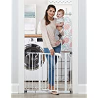 Regalo Easy Step 38.5-Inch Extra Wide Walk Thru Baby Gate, Includes 6-Inch Extension...