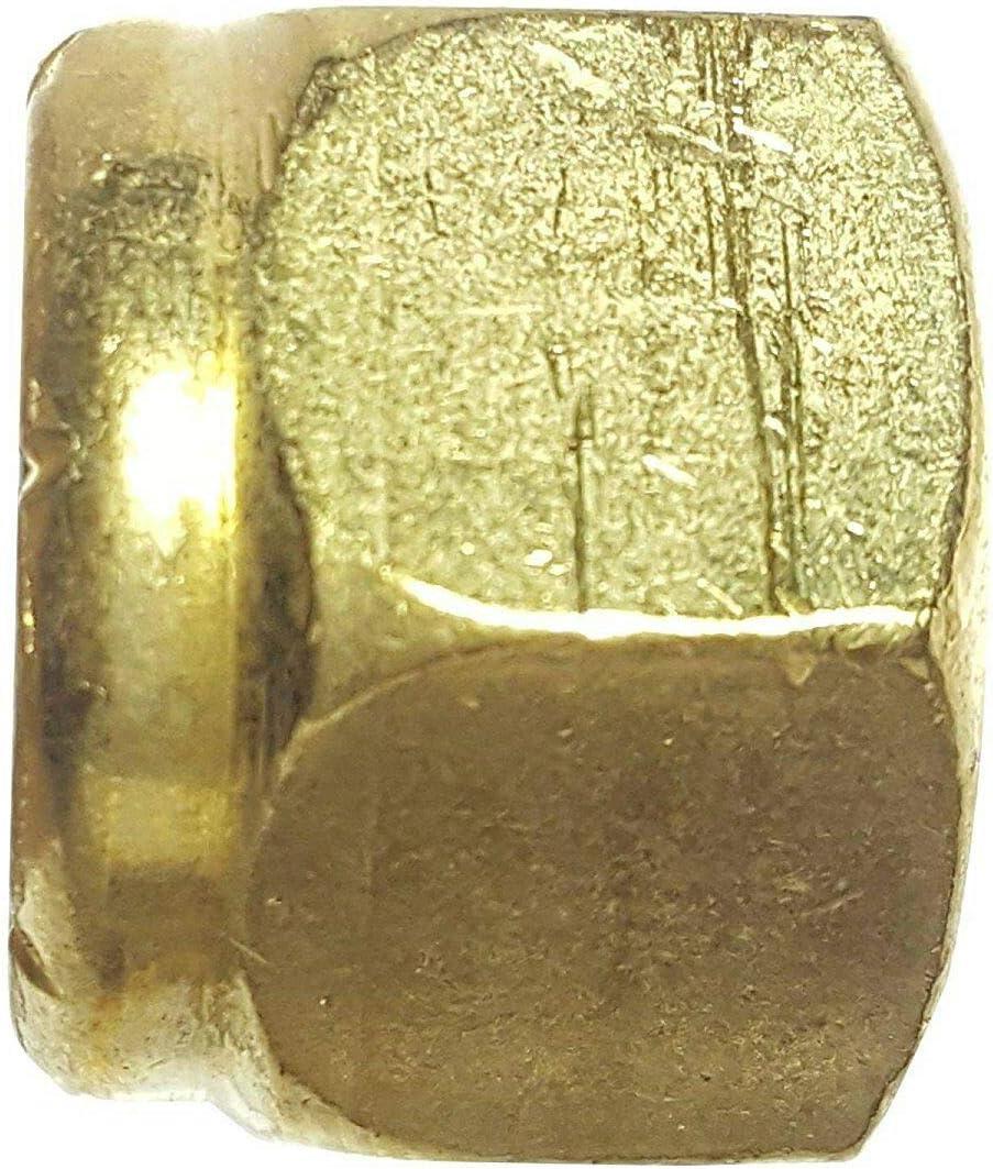 3//4-10 Solid Brass Hex Locknut Nylon Insert Elastic Stop Lock Nuts Qty 10