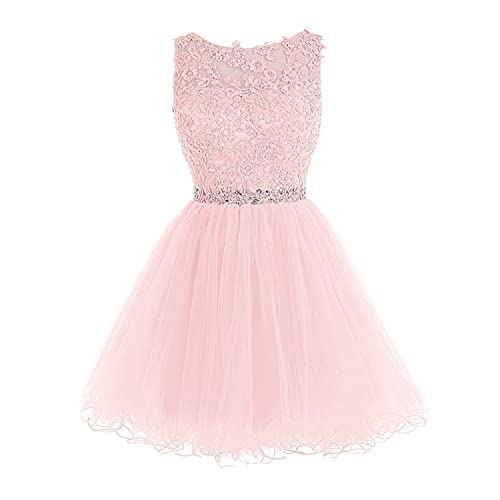 KekeHouse Line Floral Tulle Beaded Crystal Mother and Daughter Short Prom Dress Wedding Party Dress Bridesmaid