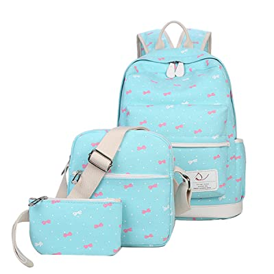 50%OFF Moonwind Polka Dot 3pcs Kids Book Bag School Backpack Handbag Purse Girls Teen