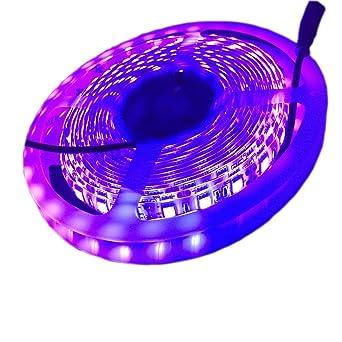 UV Led Strip Light 16FT/5M SMD5050 Waterproof UV Blacklights Ultraviolet  Light Wavelength 395-400nm with Check Sterilization Function For Room  Kitchen