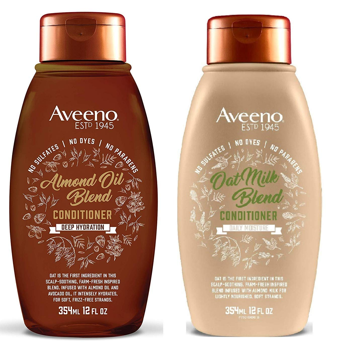 Almond Oil Blend Conditioner & Oat Milk Blend Conditioner (12 fl. oz Each) - Set of 2