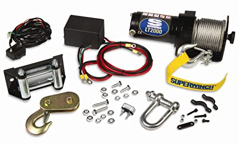 amazon com: superwinch 1120210 lt2000 12-volt atv winch (2,000 lb  capacity): automotive