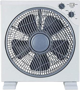 temporizador blanco y gris Ventilador Box Floor 26 3 velocidades de rotaci/ón rejilla giratoria Ardes AR5B24