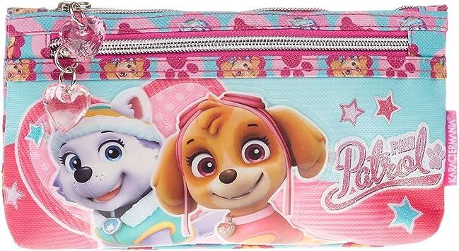 Paw Patrol-La Patrulla Canina Estuche portatodo Plano, Color Turquesa, 22 cm (Karactermanía 30187): Amazon.es: Juguetes y juegos