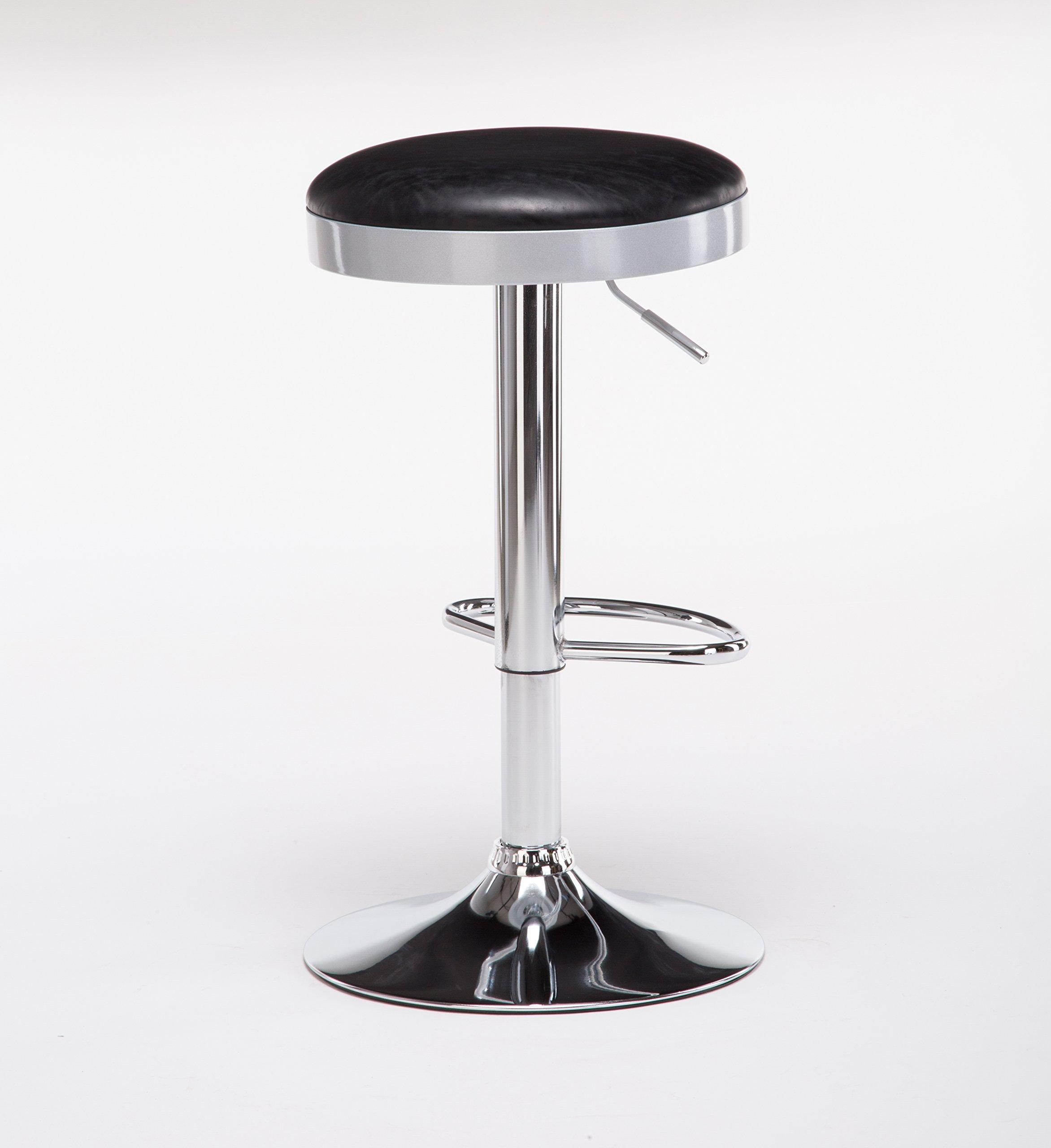 Boraam  Copley Backless Stool, 1-Pack, Adjustable Height, Black by Boraam (Image #4)