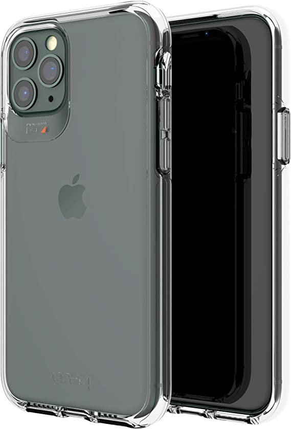 Gear4 Crystal Palace Compatible with iPhone 11 Pro Case, Advanced Impact Protection with Integrated D3O Technology, Anti-Yellowing, Phone Cover – Transparent, Crystal Clear (36577)