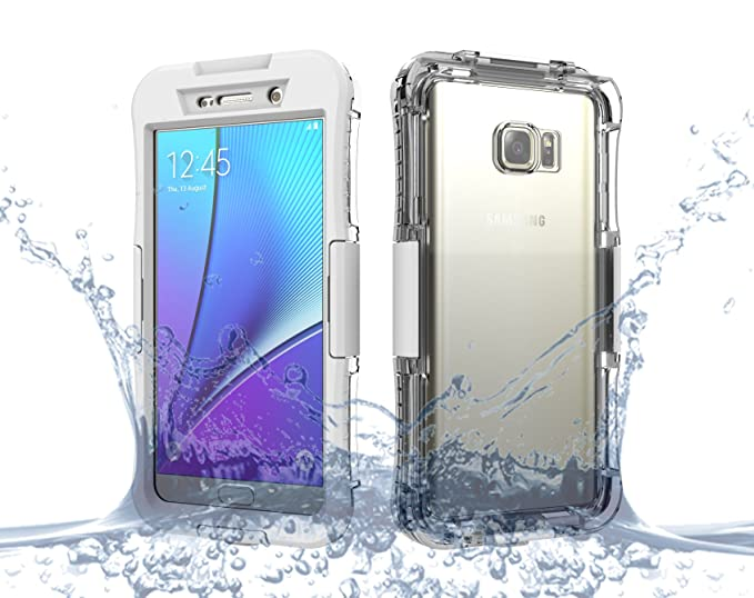 online store 4293b 11c6e Galaxy Note 5 Case, Moonmini Waterproof Shockproof Dirtproof Durable Full  Sealed Protection Case Cover for Samsung Galaxy Note 5, White