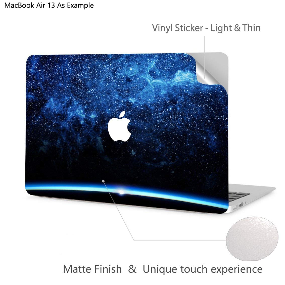 Digi-Tatoo MacBook Skin Decal Sticker /& Keyboard Cover Compatible with Apple MacBook Air 13 inch 2018 Release Silver Line Model A1932 Removable and Anti-Scratch Laptop Skin - Protective
