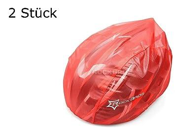 2 pieza luvponies en color rojo para bicicleta casco – Protección contra la lluvia, sol