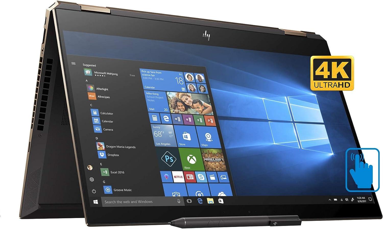 "HP Spectre x360-15t Home and Business Laptop (Intel i7-8565U 4-Core, 16GB RAM, 512GB SSD, NVIDIA GeForce MX150, 15.6"" Touch 4K UHD (3840x2160), Fingerprint, WiFi, Bluetooth, Webcam, Win 10 Home)"
