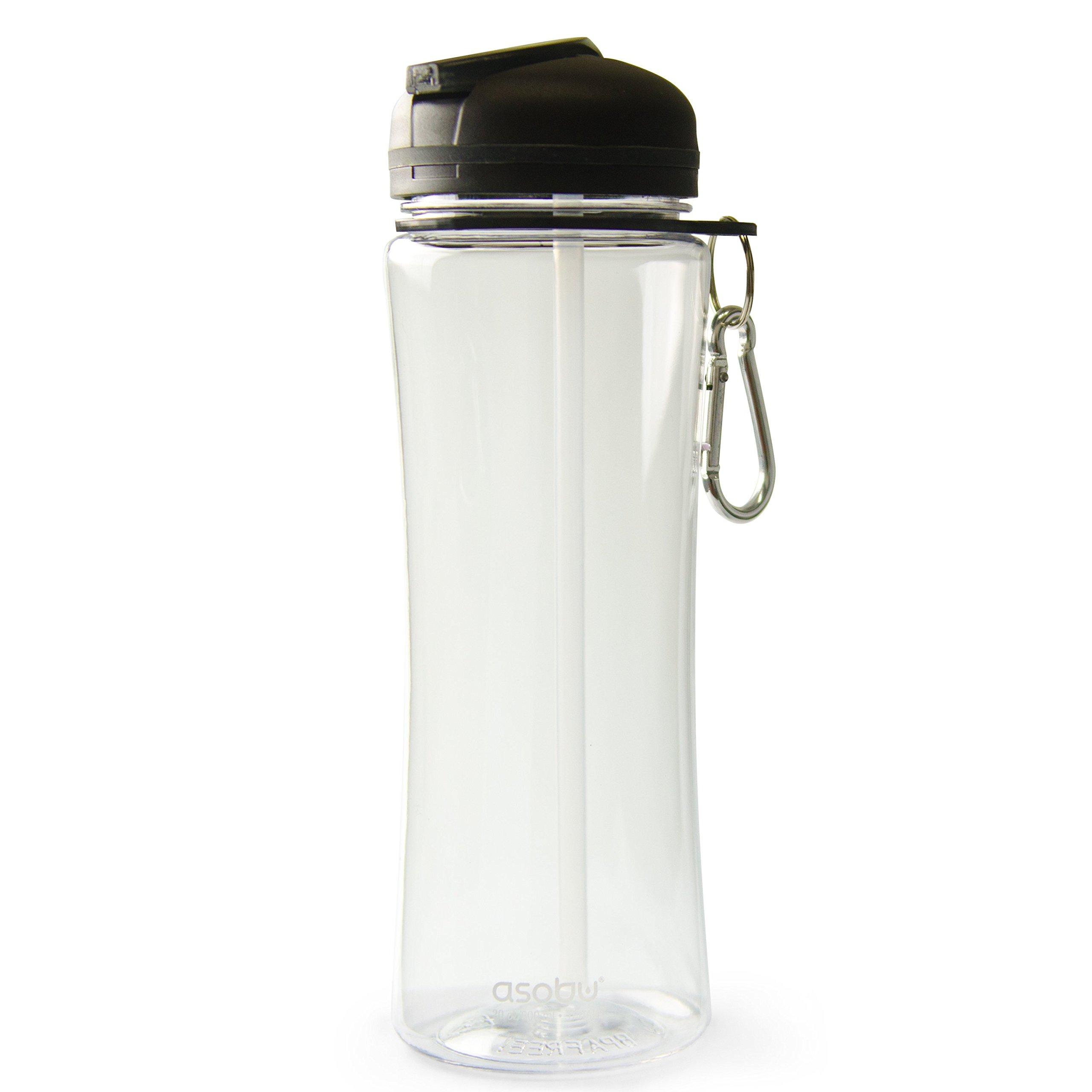 The Asobu TRIUMPH SPORT HYDRATION BOTTLE 20oz Tritan Free Flow spout Water bottle (Clear) by Asobu (Image #1)