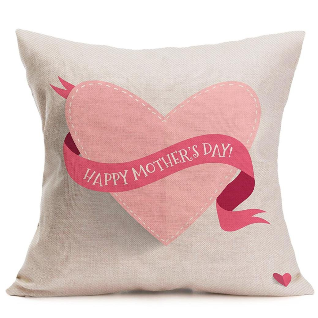 Pillow Case,Topunder Happy Mother's Day Sofa Bed Home Decoration Festival (H)