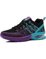 62124607466 Zapatos de Running para Hombre Mujer Zapatillas Deportivo Outdoor Calzado  Asfalto Sneakers Negro Rojo Gris 35