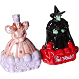 Westland Giftware Magnetic Ceramic Salt and Pepper Shaker Set, Good Witch Bad Witch, Multicolor