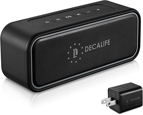 DECALIFE ST-2 Ultra IPX7 Waterproof Bluetooth Speaker Room Filling Bass 40W Loud and Good Hi-Fi Epic Sound Portable for Shower, Bathroom, Kitchen, Pools, kayak, Toys, Boating, Beach-Audiophiles Level