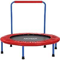 ANCHEER Trampolin Mini Kindertrampolin mit Haltegriff Belastung bis 75kg