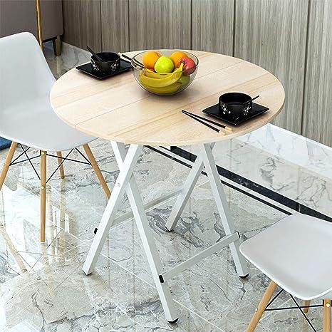 Amazon Com Folding Table Chunlan Round Table Foldable