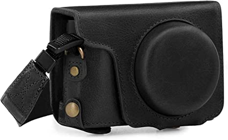 Panasonic Funda de piel para TZ80 color negro