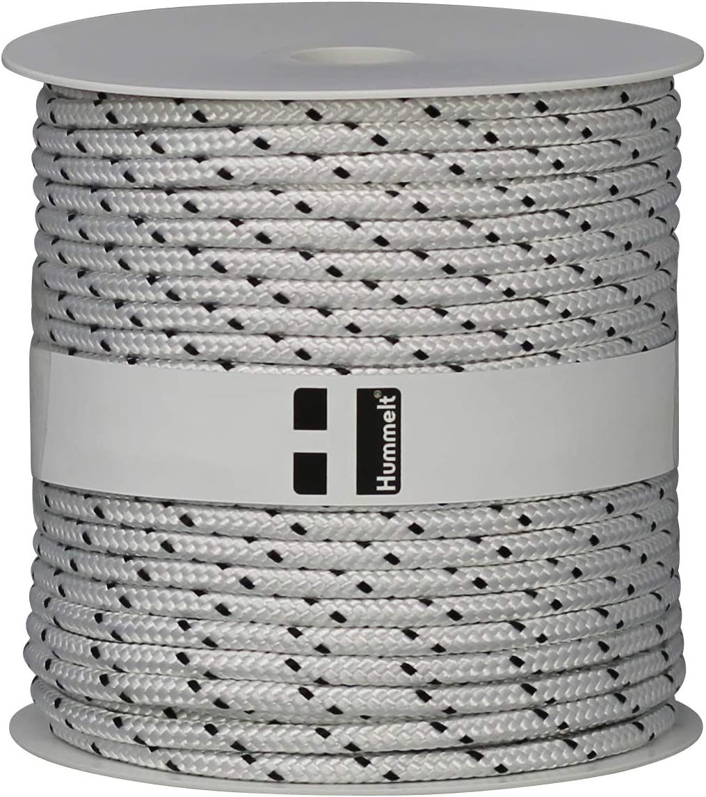 Hummelt/® SilverLine-Rope Schot Seil Polyesterseil 6mm 50m wei/ß//blau//gelb auf Rolle