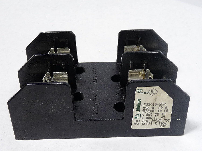 Littelfuse LR25060-2CR 60A 250V Class R Fuse Block with Lug