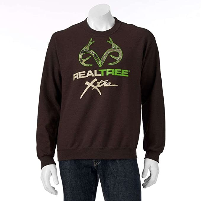 bea5df7c0824 Realtree Men s Antler Pullover Crew Sweatshirt (Medium) Brown Clay ...