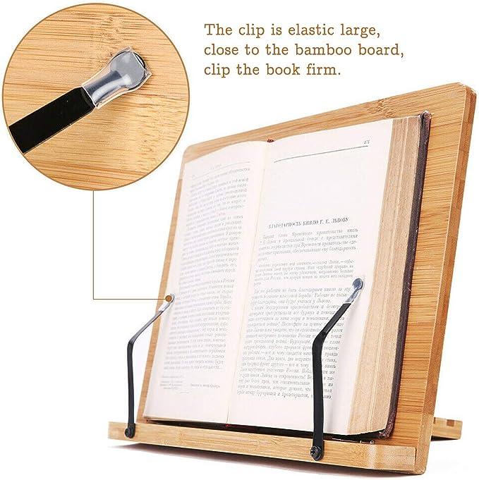 CENBEN 5 Pezzi Supporto da Tavolo 10 cm x 9,5 cm x 7,8 cm Supporto Inclinato per Fogli Supporto per Libri in Acrilico Supporto per Poster per Libri da Lettura Trasparente