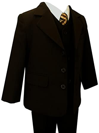 e8abfb56c Amazon.com  Gino Giovanni Formal Boy Brown Suit Boys to Teen ...
