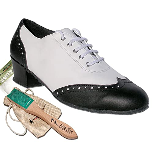 Saddle Shoes History Womens Ballroom Dance Shoes Salsa Latin Practice Shoes 2008EB Comfortable-Very Fine 1.5 [Bundle of 5] $65.95 AT vintagedancer.com