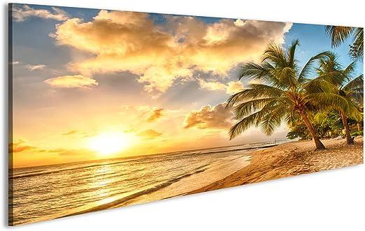 Islandburner Tableau Tableaux Sur Toile Magnifique Coucher De
