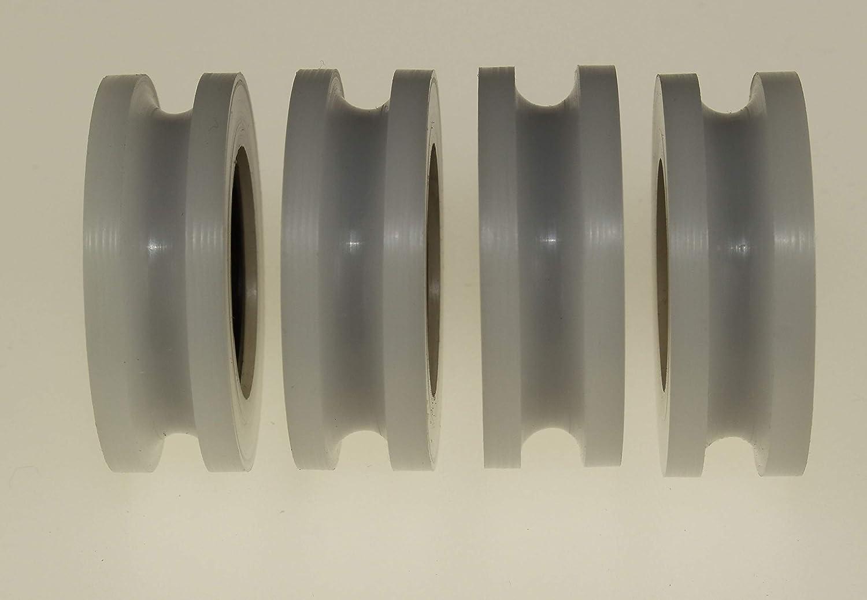 Pack de 4 ruedas poleas polacetales de 30 mm de di/ámetro U Groove Delrin Guiding Wheels Acetal Sheaves mecanizado en la UE 4 6 mm Bearing 4 mm Groove
