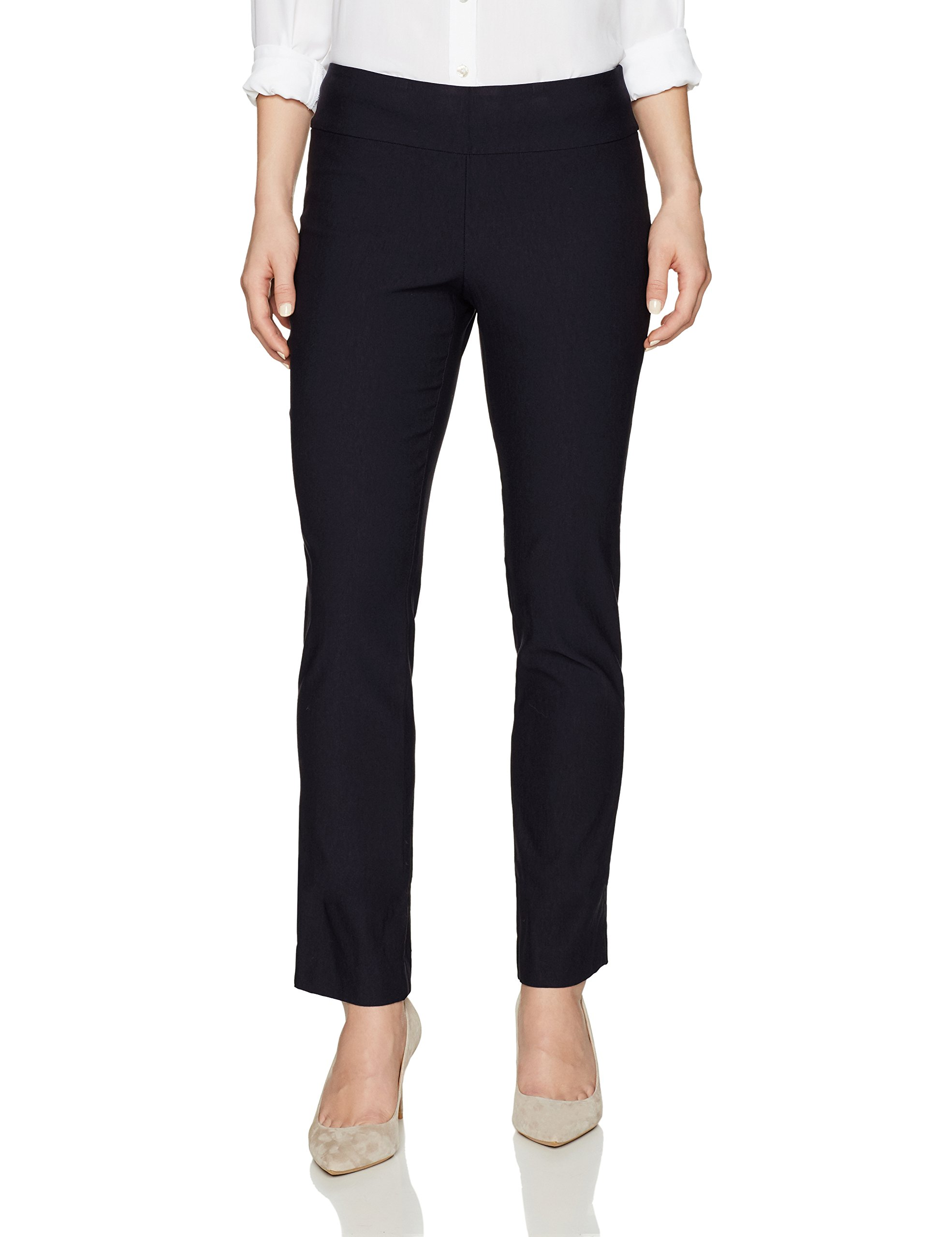 NIC+ZOE Women's Petite Wonderstretch Pant, Midnight, 4P
