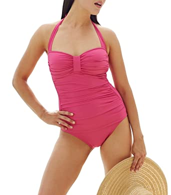 Tommy Bahama Women s Ruched Halter One Piece Swimsuit (6 ddec2fbb5fc0
