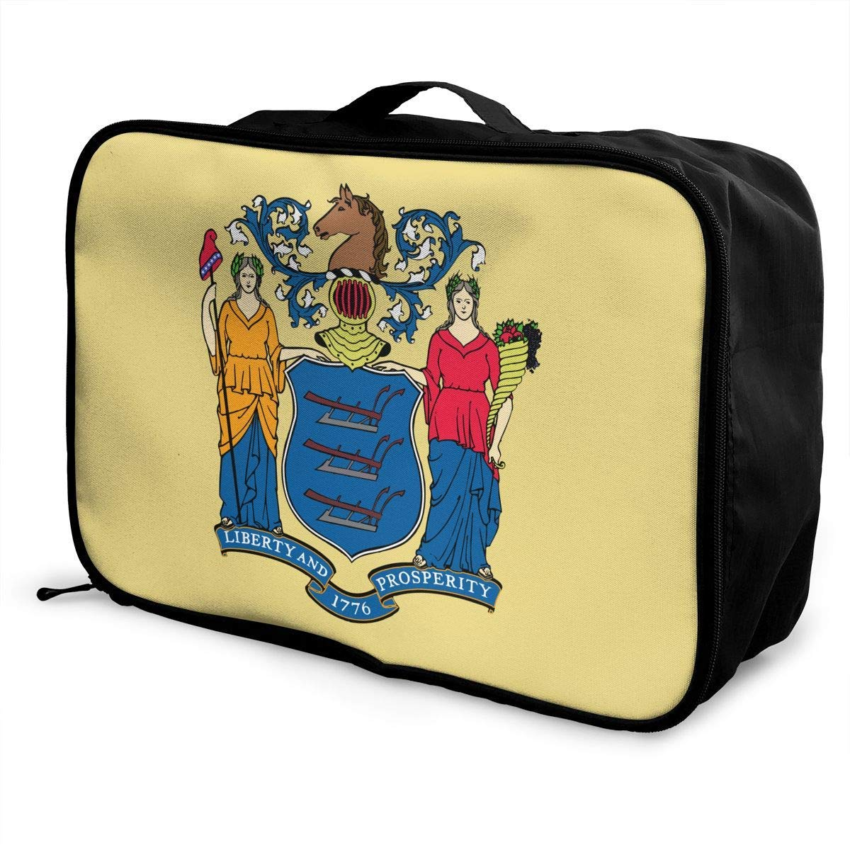 Portable Luggage Duffel Bag New Jersey Flag Travel Bags Carry-on In Trolley Handle