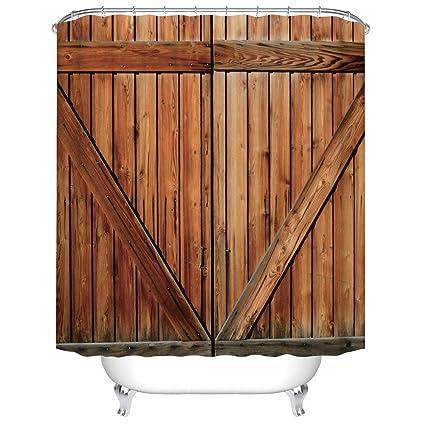 Amazon Com Fangkun Bathroom Shower Curtain Decor Set Creative