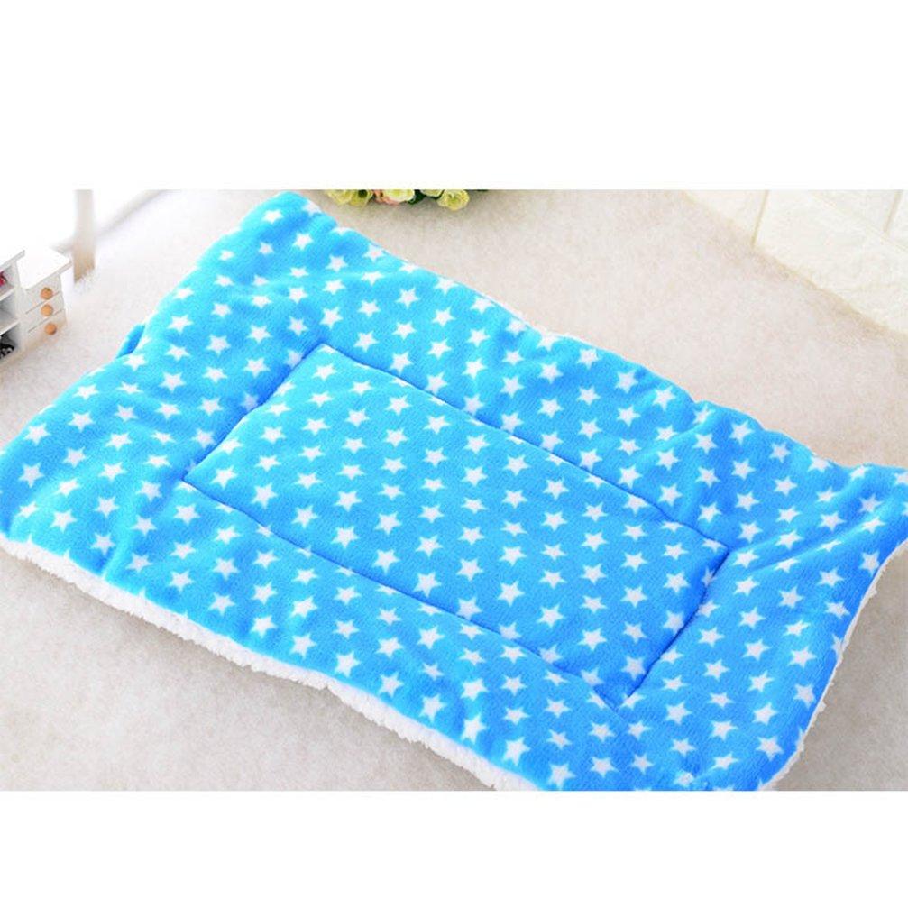 E S E S Puppy Blanket Bed Pad Pet Dog Sleep Warm Soft Cushion Print Thicken Flannel Cotton Mattress Cats Dogs Mat Autumn Winter